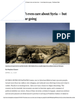 The US Doesn't Even Care About Syria — but We Keep the War Going - The Boston Globe