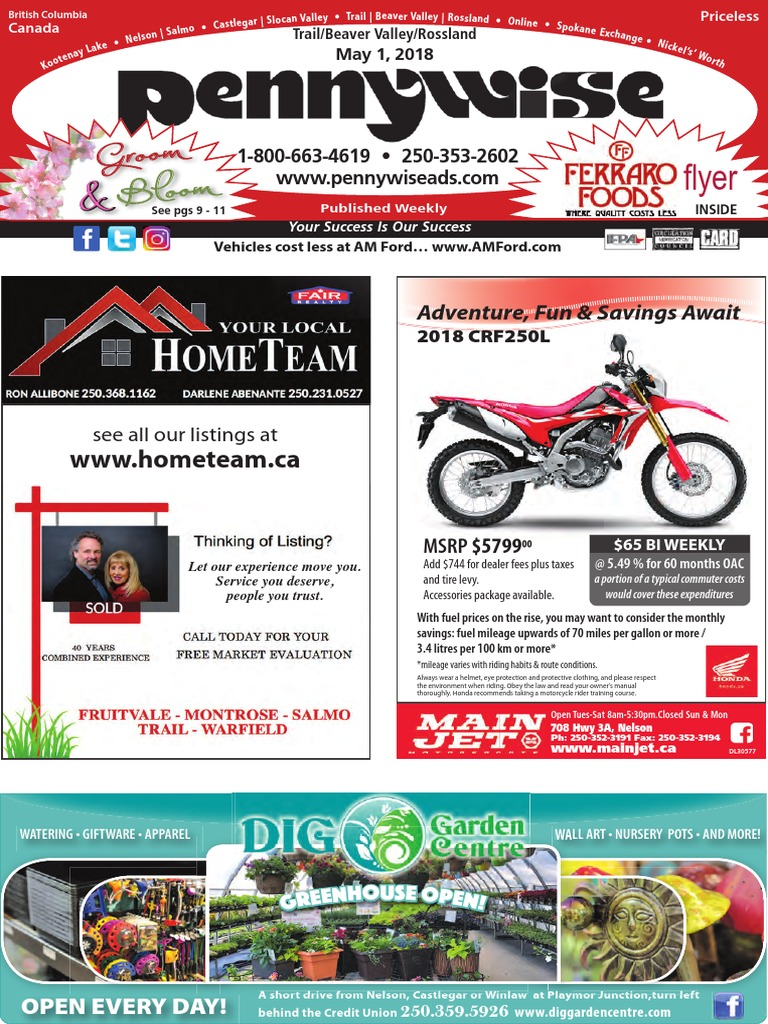 Trail Beaver Valley Rossland Pennywise May 1.pdf | Fuel Economy In  Automobiles | Business