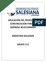 Aplicación Del Proceso de Comunicación Para La Empresa Seleccionada