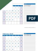 2018 Monthly Calendar Landscape 04