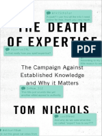 Thomas M. Nichols-The death of expertise_ the campaign against established knowledge and why it matters-Oxford University Press (2017).pdf