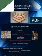 Tableros de Fibra de Densidad Media