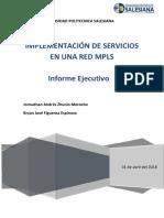 Informe Ejecutivo Redes MPLS y Servicios REDACTUAL
