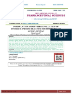 FORMULATION AND INVITRO EVALUATION OF STOMACH SPECIFIC FLOATING MICROSPHERES OF ACELCLOFENAC