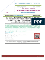 ANALYTICAL METHOD DEVELOPMENT AND VALIDATION FOR THE SIMULTANEOUS ESTIMATION OF FLUPIRITINE MALEATE AND PARACETAMOL BY USING RP-HPLC
