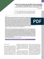 2016 Análisis Bibliométrico de La Producción Científica Sobre Las Agendas Nacionales de Investigación en El Perú 2011-2014. AFM