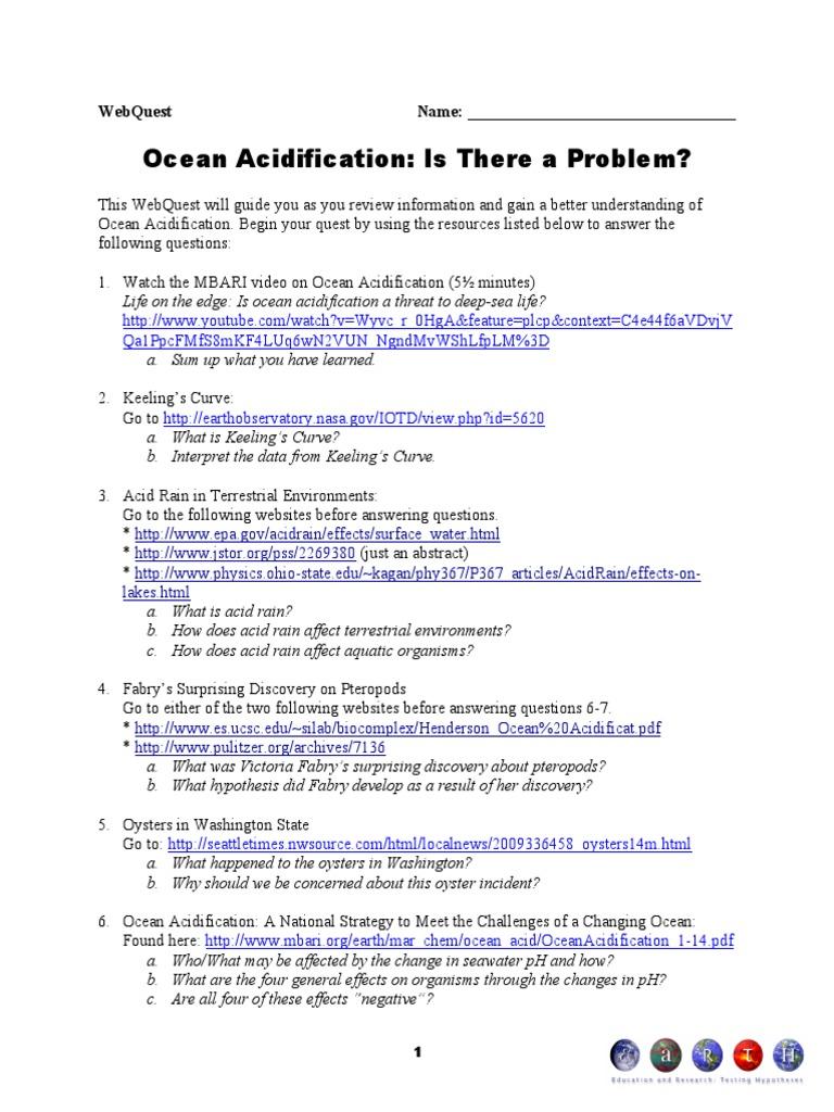 Ocean Acidification Ocean Acidification Oceans