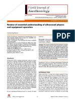 Review of Essential Understanding of Ultrasound Physics and Equipment Operation