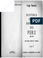 Historia de La Republica Del Peru Tomo I