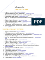 Automobile Engineering - Lecture Notes, Study Material and Important Questions, Answers