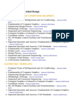 Computer Aided Design - Lecture Notes, Study Material and Important Questions, Answers