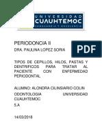 Auxiliares en Enfermedad Periodontal