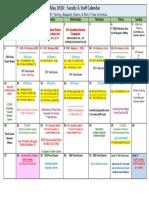 EOC and AP Calendar for Staff 2018