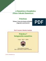 Practica 7. Integración Numérica (i)