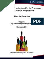 Plan de Estudios Big Data Specialist is 2018