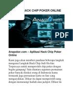 Aplikasi Hack Chip Poker Online
