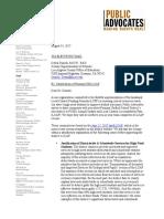 Public Advocates letter