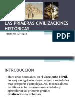 Las Primeras Civilizaciones Historicas Mesopotamia y Egipto