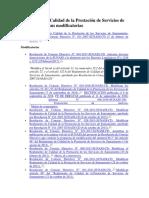 Reglamento de Calidad de La Prestación de Servicios de Saneamiento y Sus Modificatorias-SUNASS