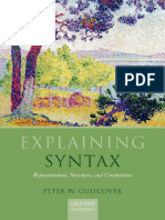 1243576524Explaining Syntax Representations, Structures, And Computation 1st Edition