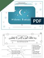 welcome ramadan activity book