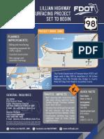 Lillian Highway resurfacing information