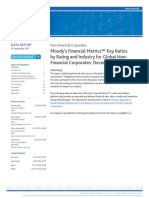 Moody's Financial Metrics Key