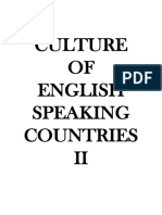 Culture of English Speaking Countries II - Study Cheatsheet - 2018