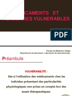 médicaments et  personnes vulnérables