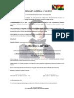 Ordenanza Municipal Nº 033 - - - - - Declarece Evo Morales.docx
