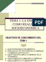 La Empresa Como Realidad Socioeconomica