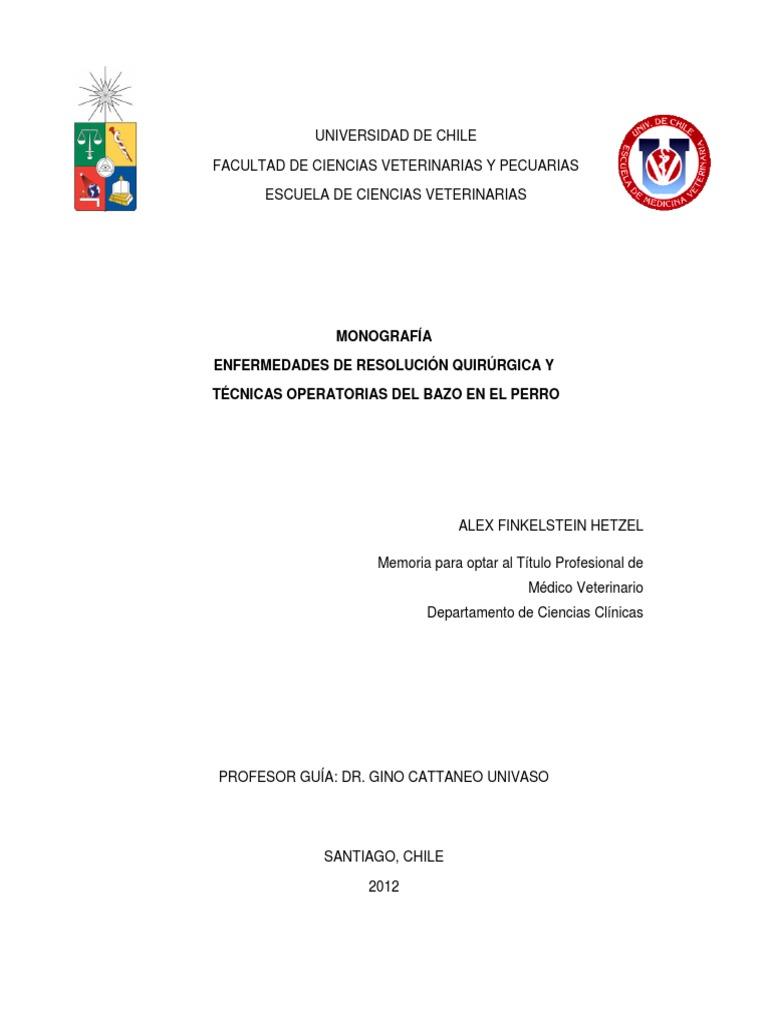 Enfermedades de Resolución Quirúrgica y Técnicas Operatorias Del ...