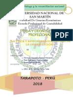 Etica y Responsabilidad Social de La Organizacion