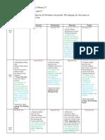 unit calendar