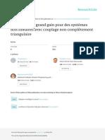 Observateur a Grand Gain Pour Des Systemes Non Lin