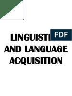 Linguistica - Study Cheatshet 2018