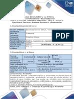 Guía de actividades y rubrica de evaluación Tarea 7- Desarrollar ejercicios de Geometria Analitica, Sumatorias y Productorias-2