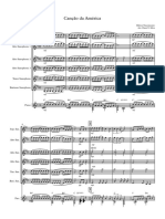 CANÇÃO DA AMÉRICA - Score and parts