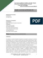 Ementa PUCSP - Nucleo 4.4 - Orientacao Vocacional Profissional e de Carreira