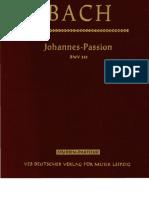 Bach Johannes PassionBar