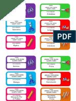 Etiquetas Cuaderno