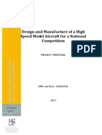 Project Proposal - Building a Model Aircraft for Speed - Comments