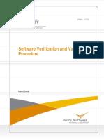 USDE_Software Verification and Validation Proc_PNNL-17772