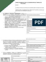 Análisis de Las Orientaciones Académicas Para La Elaboración Del Trabajo de Titulación