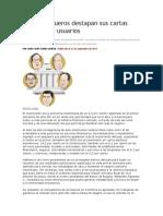 Cinco banqueros destapan sus cartas para atraer usuarios.docx