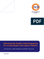 Delivering the Healthy Child Programme for Young Refugee and Migrant Children