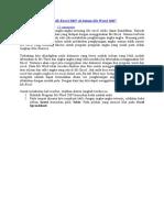 Cara Membuat Tabel MS Excel 2007 Di Dalam Ms Word 2007