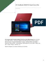 PC Portable ASUS VivoBook D540YA Dual-Core 2Go 500Go Rouge