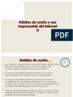 Hábitos de Sueño y Uso Responsable Del Internet