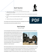 Dark Tourism Discussion and Reading Clt Communicative Language Teaching Resources Conv 88040